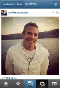 Anderson Cooper Instagram of Andy Cohen Croatia