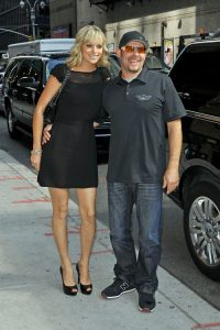 Paul Teutul Jr. and his wife Rachael Biester, head into a taping of the 'Late Show With David Letterman' in New York City