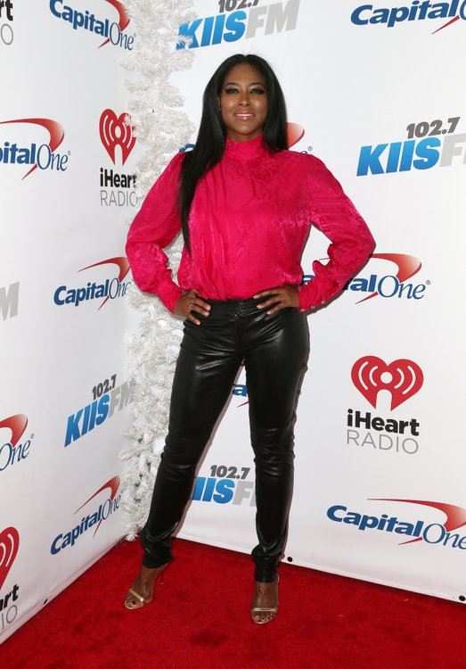 Kenya Moore - Red Turtleneck