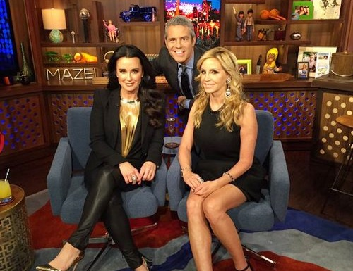 Kyle Richards and Camille Grammer on WWHL