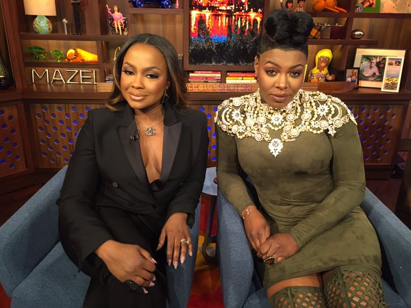phaedra black suit wwhl