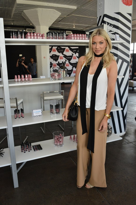 stassi schroeder beige pants white top