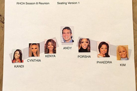 RHOA Season 8 Seating Chart