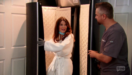 Lisa Vanderpump tries Cryotherapy