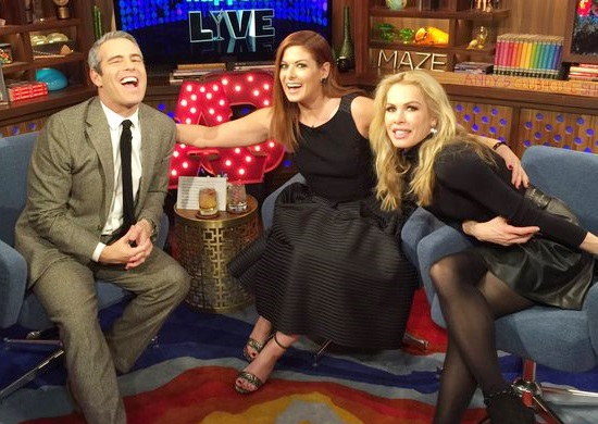 Kathryn Edwards and Debra Messing on WWHL