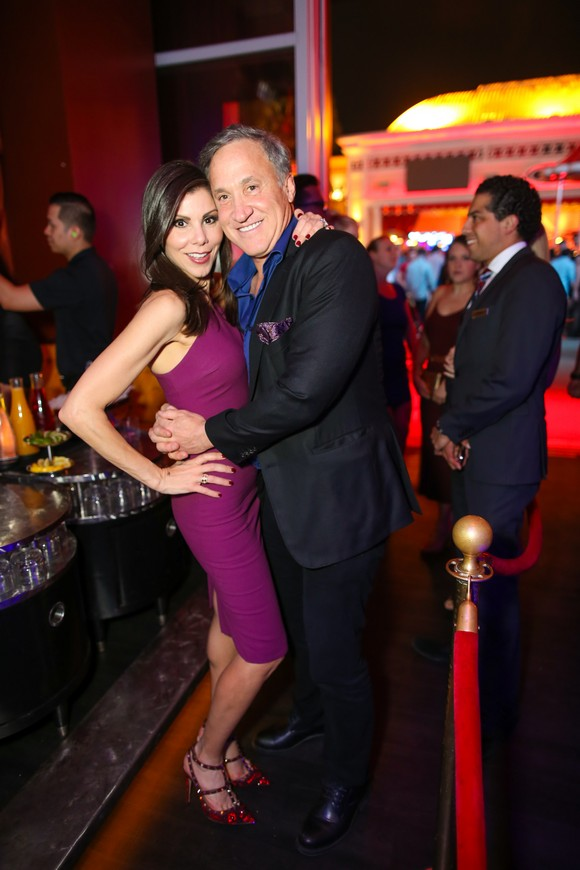 Heather dubrow purple dress Las Vegas