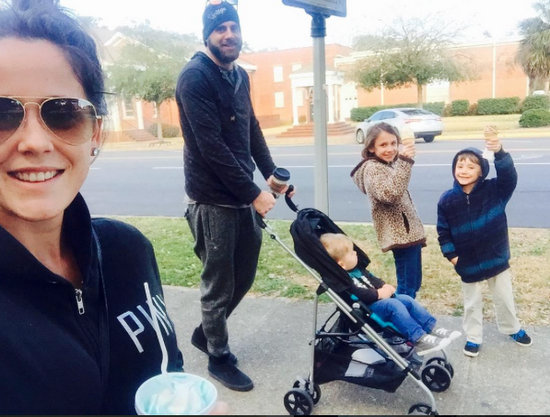 Jenelle Evans with fiance David Eason and their children