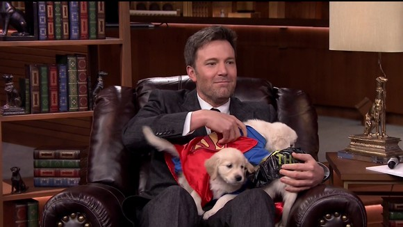 Ben Affleck during an appearance on NBC's 'The Tonight Show Starring Jimmy Fallon.' Ben promotes the movie 'Batman v Superman: Dawn of Justice.' Featuring: Ben Affleck Where: United States When: 25 Mar 2016 Credit: Supplied by WENN.com **WENN does not claim any ownership including but not limited to Copyright, License in attached material. Fees charged by WENN are for WENN's services only, do not, nor are they intended to, convey to the user any ownership of Copyright, License in material. By publishing this material you expressly agree to indemnify, to hold WENN, its directors, shareholders, employees harmless from any loss, claims, damages, demands, expenses (including legal fees), any causes of action, allegation against WENN arising out of, connected in any way with publication of the material.**