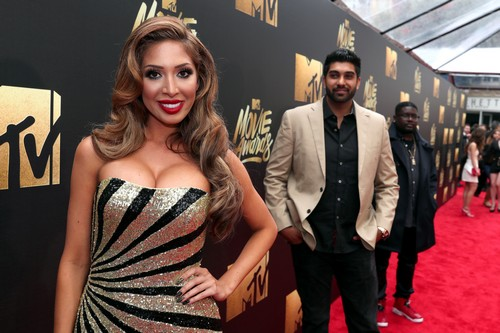 BURBANK, CALIFORNIA - APRIL 09:  (L-R) TV personalities Farrah Abraham, Simon Saran and comedian Lil Rel Howery attend the 2016 MTV Movie Awards at Warner Bros. Studios on April 9, 2016 in Burbank, California.  MTV Movie Awards airs April 10, 2016 at 8pm ET/PT.  (Photo by Christopher Polk/Getty Images for MTV)