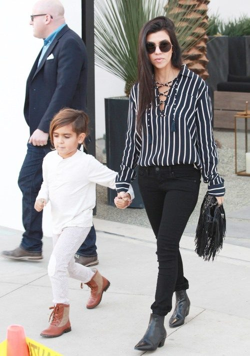 Outraged Fans Alert! Did Kourtney Kardashian Dye Mason Disick's Hair?