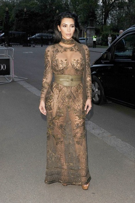 Nailed It Or Failed It: Kim Kardashian At The Vogue 100 Gala In Nearly Nude Dress – Vote In Our Poll
