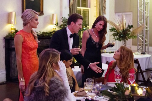 SOUTHERN CHARM -- Pictured: (l-r) Thomas Ravenel, Landon Clements, Kathryn Dennis Calhoun -- (Photo by: Paul Cheney/Bravo)
