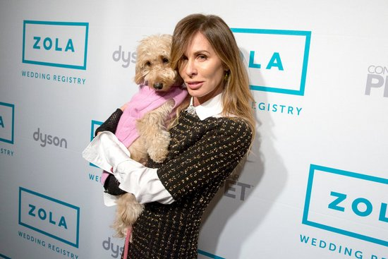 Carole with her dog