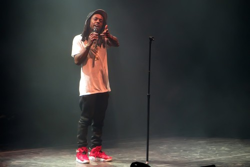 The Drake vs Lil Wayne battle concert, held at the legendary Forest Hills Stadium in Queens. During the gig Drake, who won this performance, flew across the crowd on a motorized pedestal. Featuring: Lil Wayne Where: Forest Hills, New York, United States When: 19 Aug 2014 Credit: Maria Fitzsimons/WENN.com