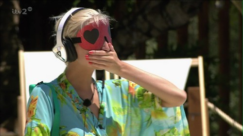 Each single guy had to kiss the blindfolded single girls in hopes of being crowned top snogger on 'Love Island'. Jordan Ring wins with 33 points. Broadcast on ITV HD Featuring: Zoe Brown When: 23 Jun 2015 Credit: Supplied by WENN **WENN does not claim any ownership including but not limited to Copyright, License in attached material. Fees charged by WENN are for WENN's services only, do not, nor are they intended to, convey to the user any ownership of Copyright, License in material. By publishing this material you expressly agree to indemnify, to hold WENN, its directors, shareholders, employees harmless from any loss, claims, damages, demands, expenses (including legal fees), any causes of action, allegation against WENN arising out of, connected in any way with publication of the material.**