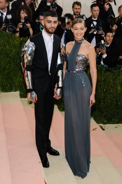 Metropolitan Museum of Art Costume Institute Gala - Manus x Machina: Fashion in the Age of Technology at the Metropolitan Museum of Art Featuring: Zayn Malik, Gigi Hadid Where: New York City, New York, United States When: 02 May 2016 Credit: WENN.com
