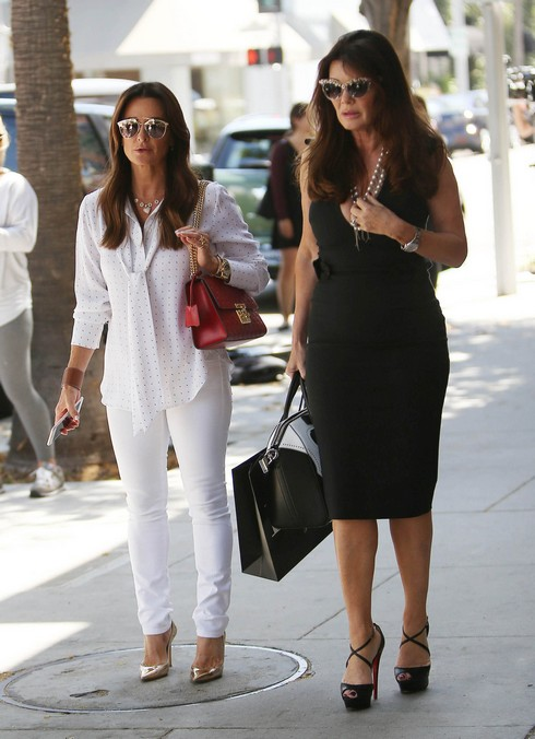 LOS ANGELES, CA - JULY 13:  Kyle Richards and Lisa Vanderpump are seen on July 13, 2016 in Los Angeles, California.  (Photo by SMXRF/Star Max/GC Images)