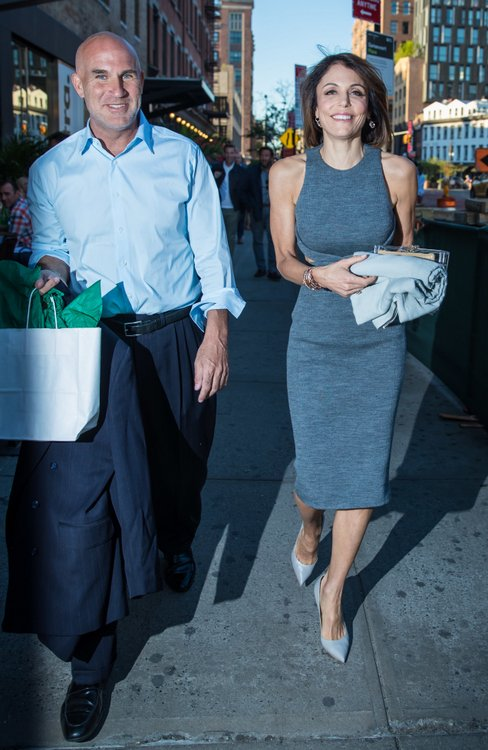 Bethenny Frankel and Dennis Shields leaving Soho House