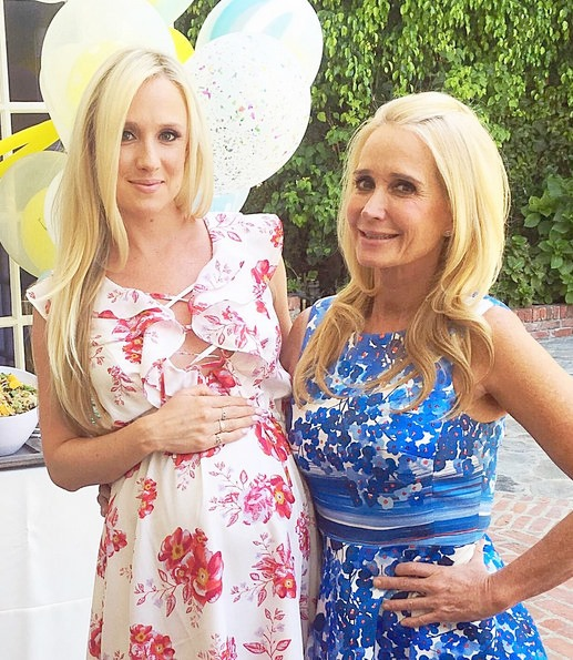 Kim Richards and Kyle Richards at Brooke Wiederhorn's Baby Shower