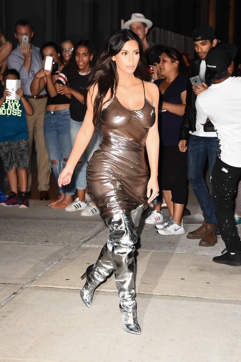 NEW YORK, NY - SEPTEMBER 06: (EDITORS NOTE: Image contains nudity.) Kim Kardashian is seen walking in Soho on September 6, 2016 in New York City. (Photo by Raymond Hall/GC Images)