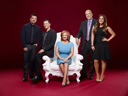 MANZO'D WITH CHILDREN -- Season:1 -- Pictured: (l-r) Christopher Manzo, Albie Manzo, Caroline Manzo, Al Manzo, Lauren Manzo -- (Photo by: Robert Ascroft/Bravo)