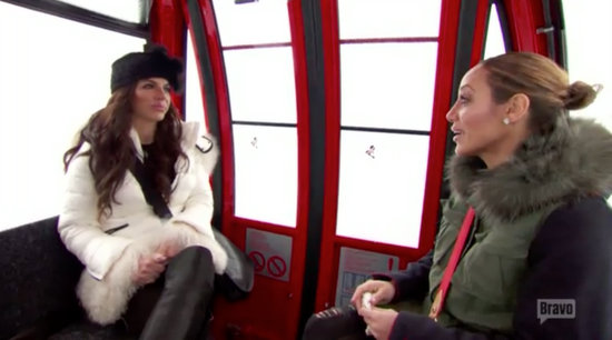 Teres and Melissa bond on the gondola
