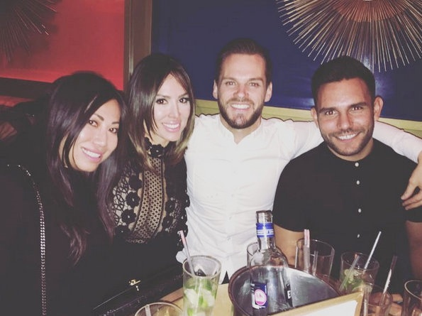 Kelly Dodd with friends in London