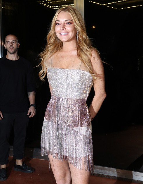 Lindsay Lohan attends the opening of her new nightclub in Athens, Greece called 'Lohan'. A Lindsay Lohan spokesperson reportedly told TMZ that Lohan will stop by the club, co-owned by her friend Dennis Papageorgiou, a few times a month. They also said it has an