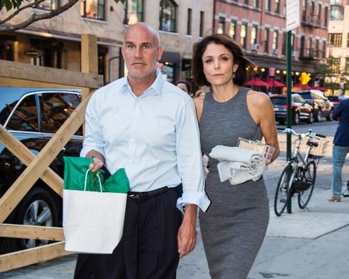 NEW YORK, NY - JUNE 14: Dennis Shields and Bethenny Frankel are seen leaving SoHo House on June 14, 2016 in New York, New York. (Photo by Alessio Botticelli/GC Images)