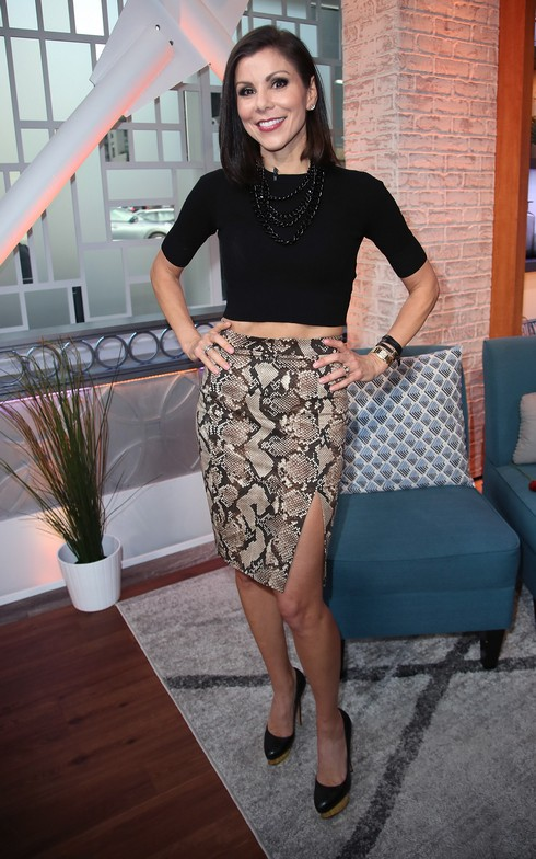 HOLLYWOOD, CA - JANUARY 04: TV personality Heather Dubrow visits Hollywood Today Live at W Hollywood on January 4, 2017 in Hollywood, California. (Photo by David Livingston/Getty Images)