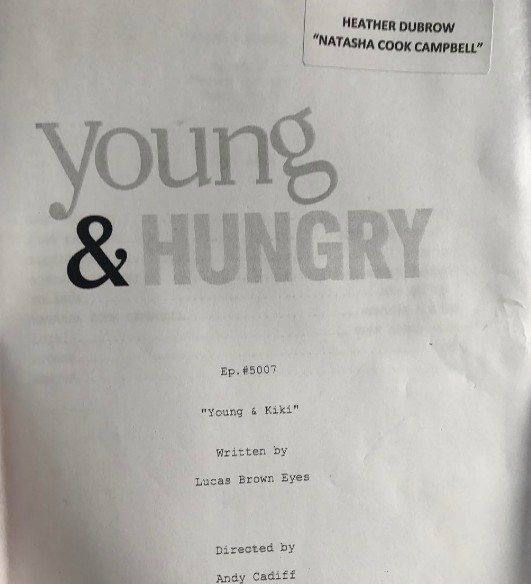 Heather-Dubrow-Young-And-Hungry-Script