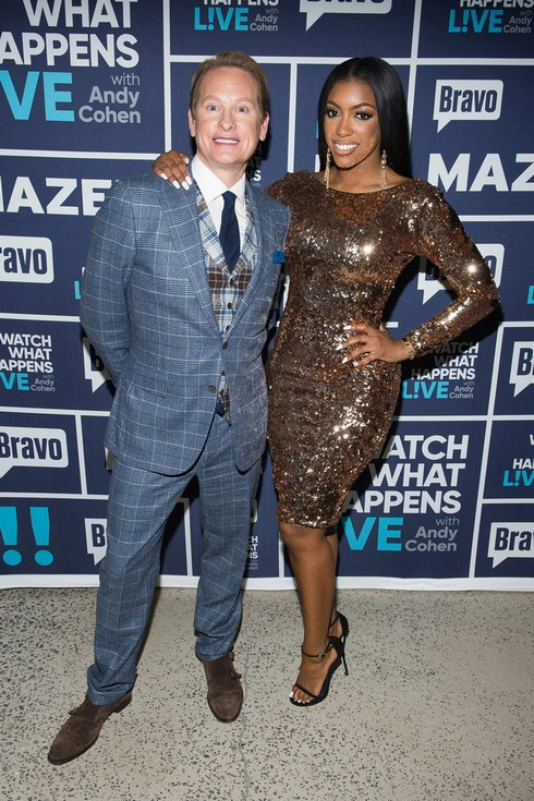 WATCH WHAT HAPPENS LIVE WITH ANDY COHEN -- Episode 14009 -- Pictured: (l-r) Carson Kressley, Porsha Williams -- (Photo by: Charles Sykes/Bravo)