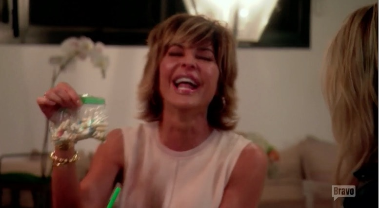 Lisa RInna's baggie of vitamins