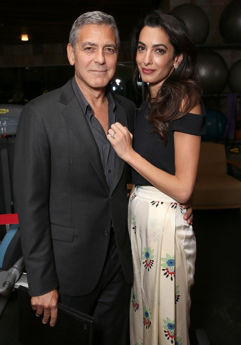 LOS ANGELES, CA - OCTOBER 01: George Clooney and Amal Clooney attend the MPTF 95th anniversary celebration with 'Hollywood's Night Under The Stars' at MPTF Wasserman Campus on October 1, 2016 in Los Angeles, California. (Photo by Todd Williamson/Getty Images for MPTF)