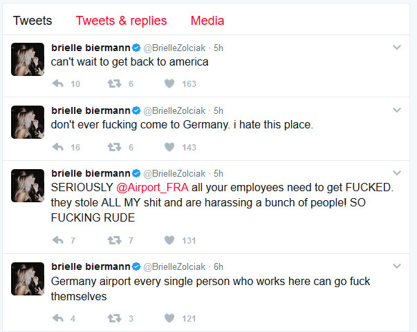 brielle twitter rant