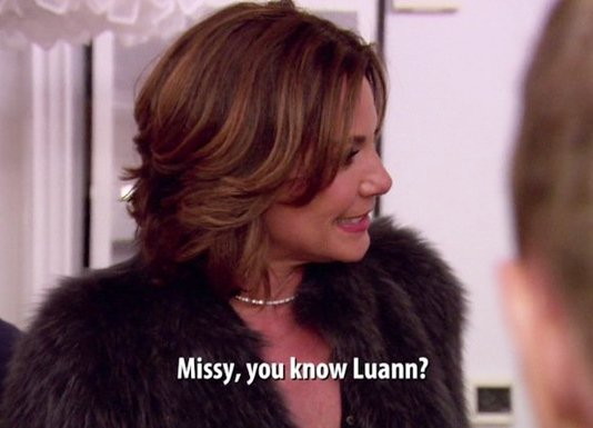 Luann, Tom, Missy on RHONY