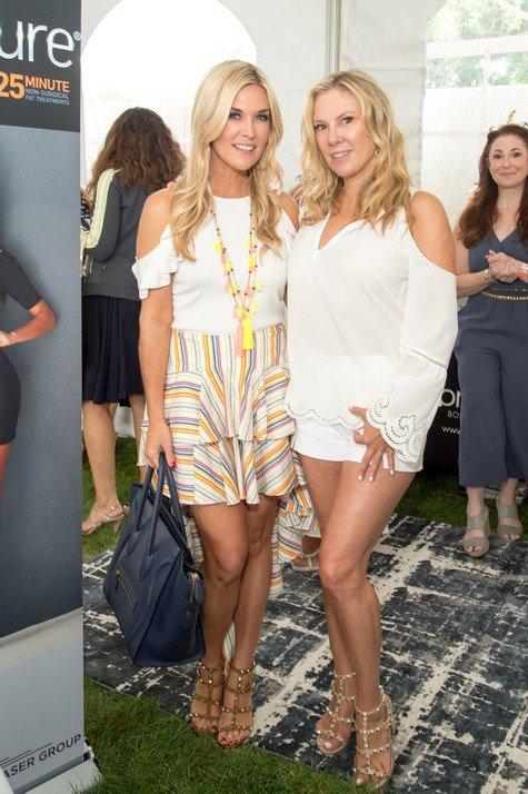 SOUTHAMPTON, NY - JULY 29: Bravo TV Personalities Tinsley Mortimer and Romona Singer attend the Jill Zarin's 5th Annual Luxury Luncheon on July 29, 2017 in Southampton, New York. (Photo by Mark Sagliocco/Getty Images)