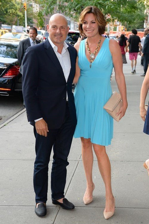 NEW YORK, NY - JULY 18: Tom D'Agostino Jr and LuAnn de Lesseps are seen in Soho on July 18, 2017 in New York City. (Photo by Raymond Hall/GC Images)