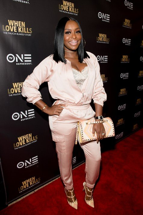 "ATLANTA, GA - AUGUST 09:  Quad Webb Lunceford attends the ""When Love Kills: The Falicia Blakely Story"" movie screening at Regal Atlantic Station on August 9, 2017 in Atlanta, Georgia.  (Photo by Marcus Ingram/Getty Images for Paramount)"