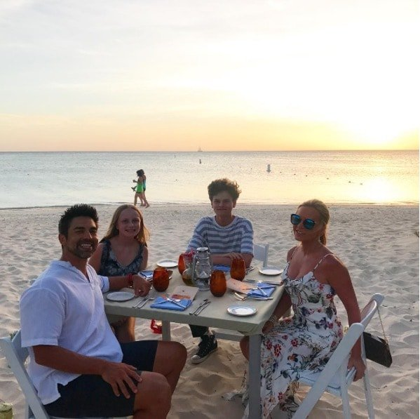 Tamra Judge & Family In Aruba