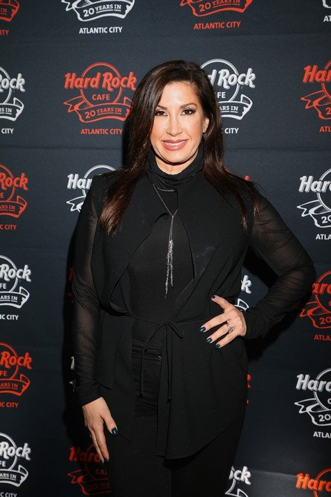 ATLANTIC CITY, NEW JERSEY - NOVEMBER 15: (R-L) Jacqueline Laurita walks the red carpet during Hard Rock Cafe's 20th Anniversary bash on Tuesday, November 15, 2016, in Atlantic City, NJ. The event celebrates Hard Rock's two-decade commitment to the Atlantic City Community. (Photo by Bill McCay/Getty Images for Hard Rock Inter)