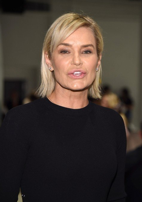 NEW YORK, NY - SEPTEMBER 10: Yolanda Hadid attends the Prabal Gurung fashion show during New York Fashion Week at Gallery 2, Skylight Clarkson Sq on September 10, 2017 in New York City. (Photo by Gary Gershoff/WireImage)
