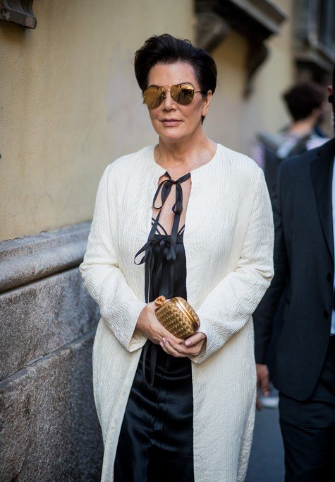 MILAN, ITALY - SEPTEMBER 23: Kris Jenner is seen outside Bottega Veneta during Milan Fashion Week Spring/Summer 2018 on September 23, 2017 in Milan, Italy. (Photo by Christian Vierig/Getty Images)