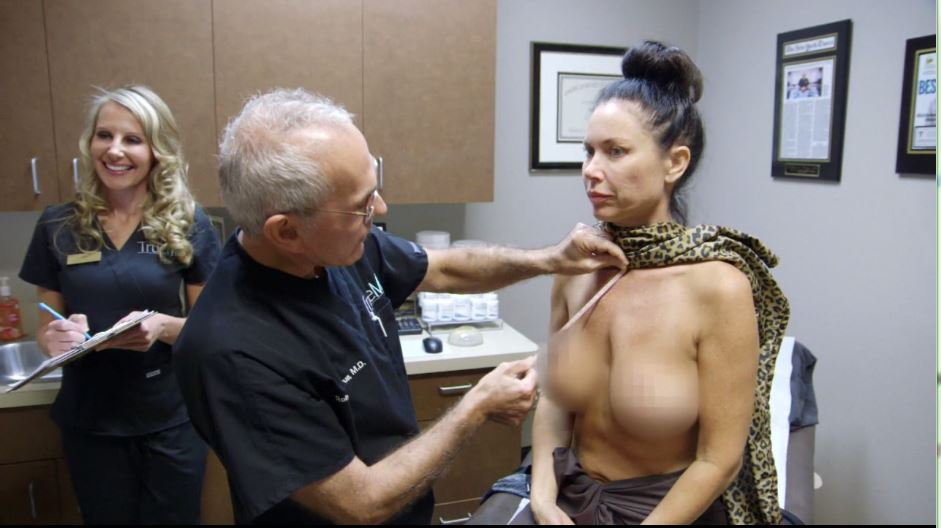 LeeAnne-Locken-gets-measured-up-by-her-cosmetic-surgeon-Dr.-True