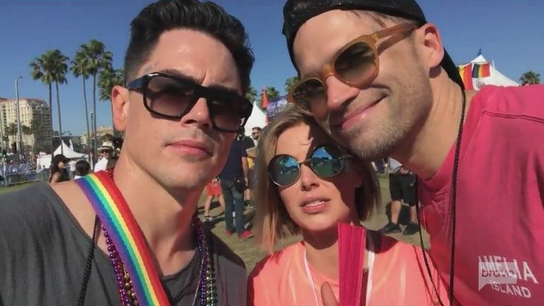 Tom 1, Tom 2, & Ariana at Pride