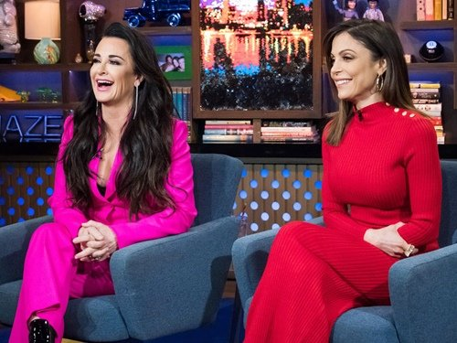Kyle Richards and Bethenny Frankel on WWHL