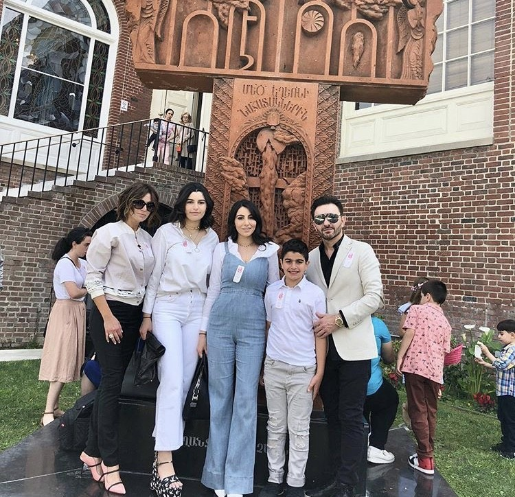 Peggy Sulahian With Her Family