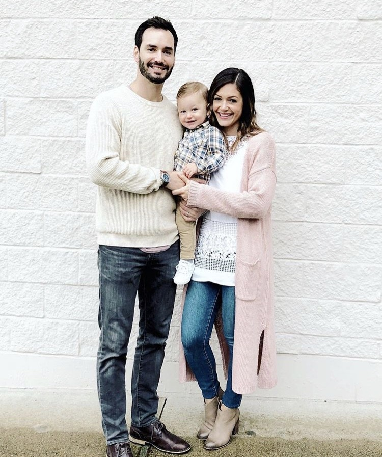 Desiree Hartsock & Chris Siegfried With Their Son