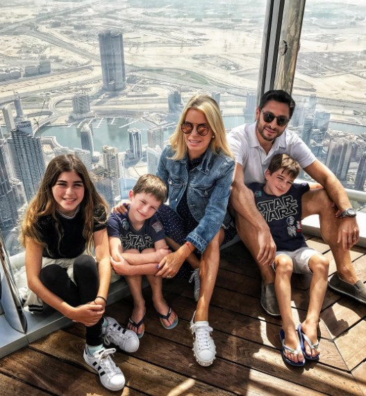 Caroline Stanbury In Dubai With Her Family