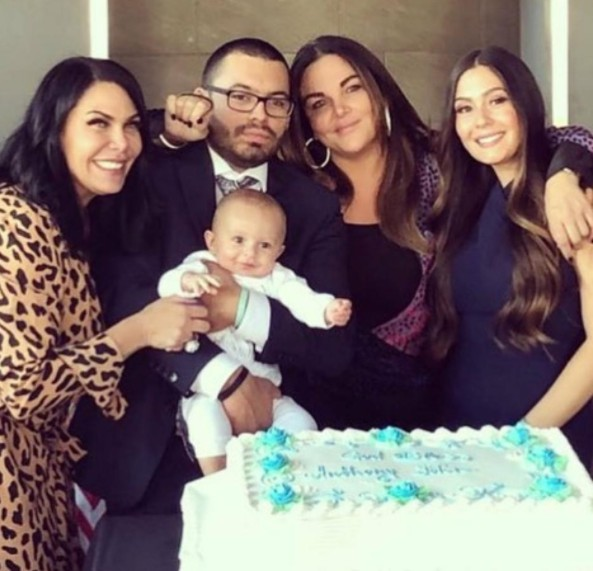 Renee Graziano At Her Grandson's Christening